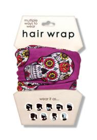 Sugar Skull Hair Wrap
