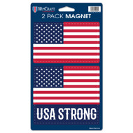 Usa Strong Die Cut Car Magnets (2 Pack)