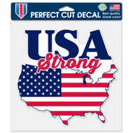 """USA Strong Flag 8""""x8"""" Perfect Cut Decal"""