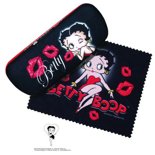 Betty Boop Kises Eyeglass Case and Cleaner