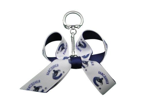 Vancouver Canucks Mini Bow Keychain