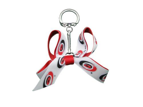 Carolina Hurricanes Mini Bow Keychain