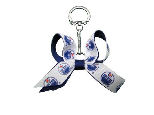 Edmonton Oilers Mini Bow Keychain