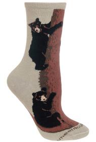 Bear Climbing Stone Ladies Socks