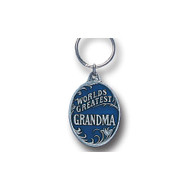 Worlds Greatest Grandma Pewter Key Chain
