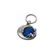 Moon and Lady Pewter Key Chain