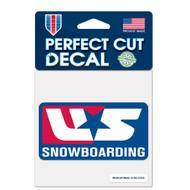 "Olympics Team USA Snowboarding 4""x4"" Logo Decal"