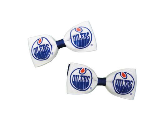 Edmonton Oilers Hair Bow Pair