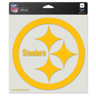 """Pittsburgh Steelers 8""""x8"""" Gold Team Logo Decal"""