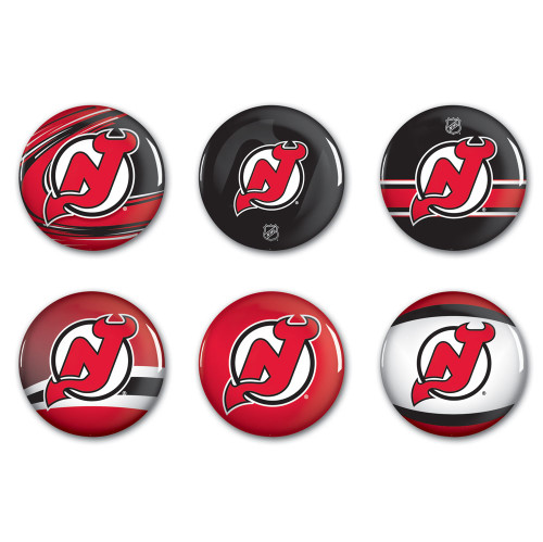 New Jersey Devils Buttons 6-Pack