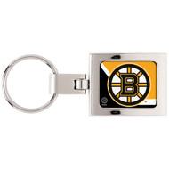 Boston Bruins Domed Metal Keychain