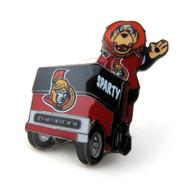 Ottawa Senators Mascot on Zamboni Lapel Pin