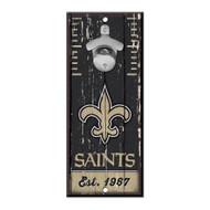 New Orleans Saints Wooden Wall Mounted Bottle Opener