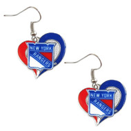 New York Rangers  Swirl Heart Earrings