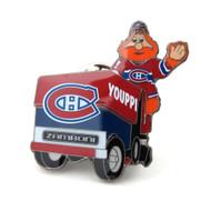 Montreal Canadiens Mascot on Zamboni Lapel Pin