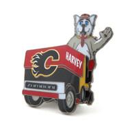 Calgary Flames Mascot on Zamboni Lapel Pin