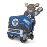 Winnipeg Jets Mascot on Zamboni Lapel Pin