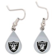 Oakland Raiders Tear Drop Earrings