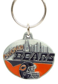 Chicago Bears Pewter Oval Keychain