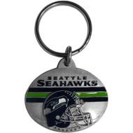 Seattle Seahawks Pewter Oval Keychain