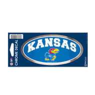 "University Of Kansas 3"" x 7"" Chrome Decal"