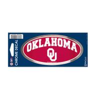 "University Of Oklahoma 3"" x 7"" Chrome Decal"