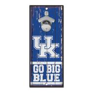 University of Kentucky Wooden Wall Mounted Bottle Opener
