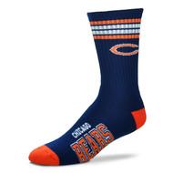Chicago Bears Large '4 Stripe' Deuce Socks