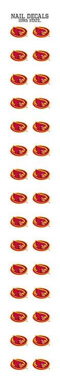 Iowa State University Nail Sticker Decals