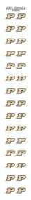 Purdue University Nail Sticker Decals