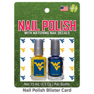 West Virginia Nail Polish Team Colors and Nail Decals