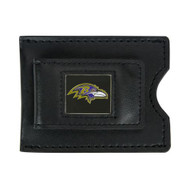 Baltimore Ravens Leather Money Clip and Card Case