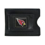 Arizona Cardinals Leather Money Clip and Card Case