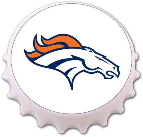 Denver Broncos Bottle Cap Magnet Bottle Opener
