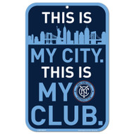 New York City FC This is My City This is My Club Sign