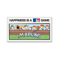 Miami Marlins Peanuts Happiness Cloisonne Pin