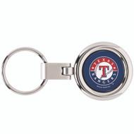 Texas Rangers Domed Metal Keychain