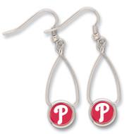 Philadelphia Phillies French Loop Earrings