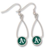 Oakland Athletics French Loop Earrings