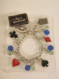 Alice in Wonderland Red Queen Keychain Bracelet