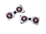 Houston Astros Hair Bow Pair