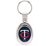Minnesota Twins Domed Metal Keychain