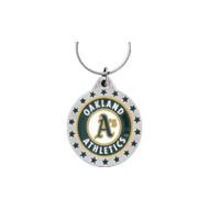 Oakland Athletics Pewter Keychain