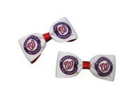 Washington Nationals Hair Bow Pair