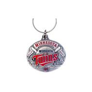 Minnesota Twins Oval Pewter Keychain