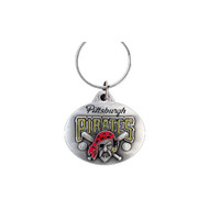 Pittsburgh Pirates Oval Pewter Keychain