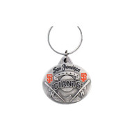 San Francisco Giants Oval Pewter Keychain