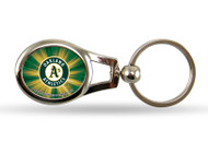 Oakland Athletics Oval Keychain
