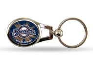 Milwaukee Brewers Oval Keychain