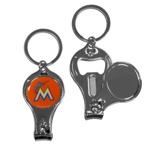 Miami Marlins 3 in 1 Keychain